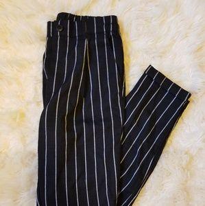 Forever 21 Pinstripe Elastic Waist Trousers